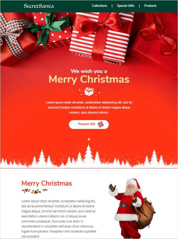 themeforest free christmas template