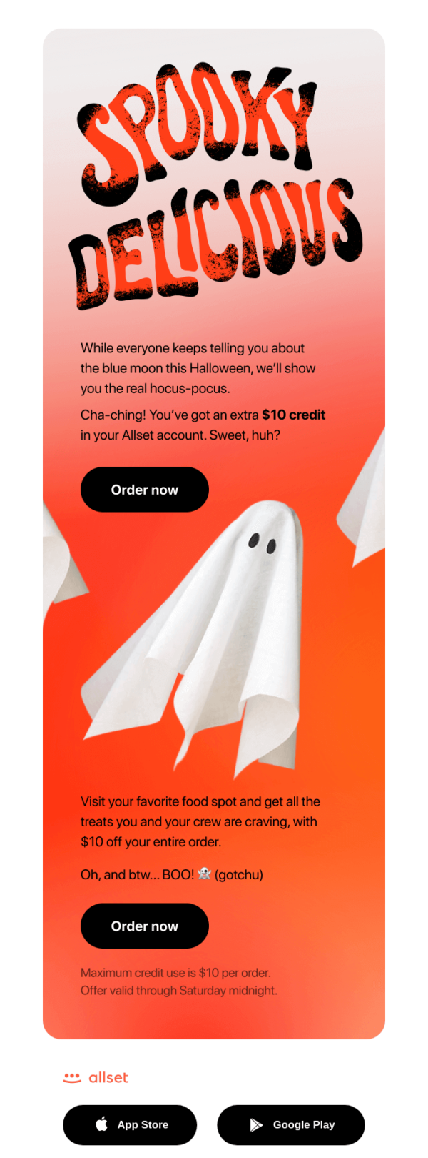 Halloween email by Allset