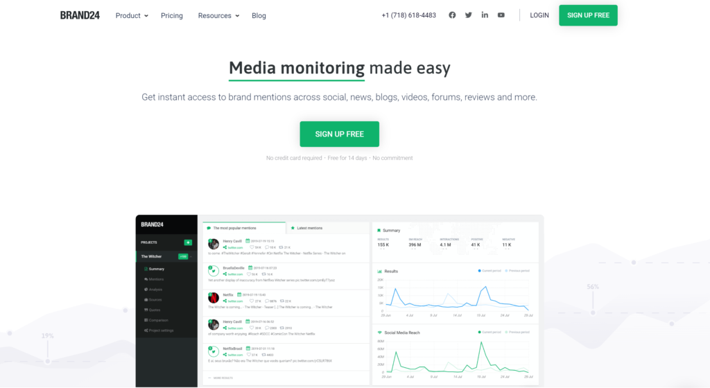 Brand24 Instagram Analytics Tool