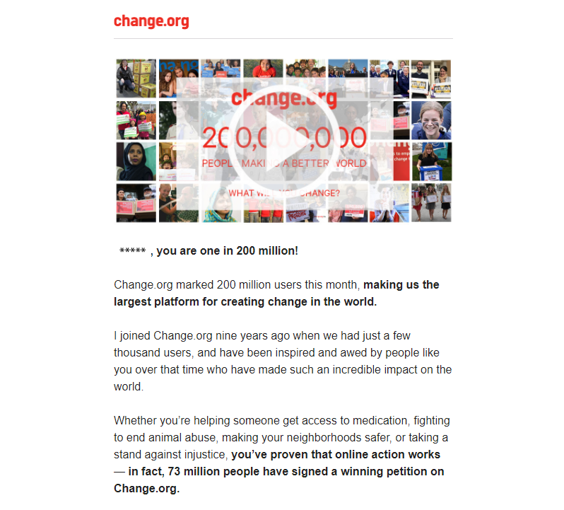 change.org thank you email