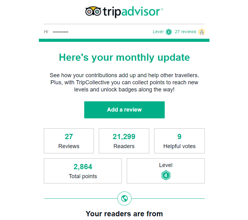 tripadvisor monthly update