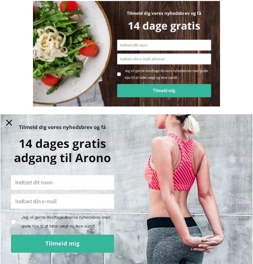 the arono a/b testing examples