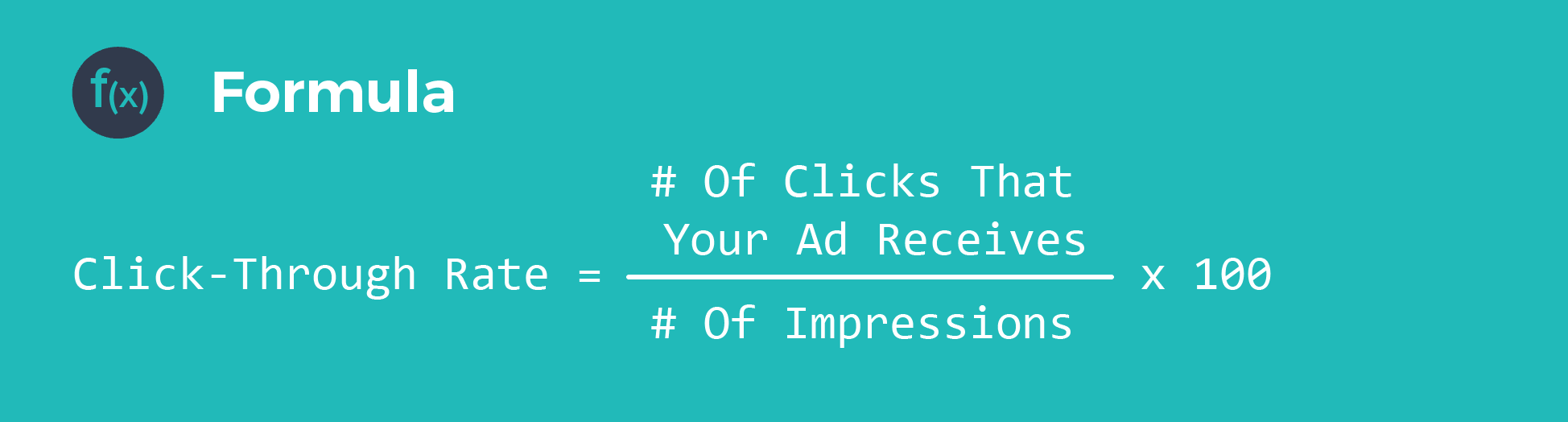 click through rate formula