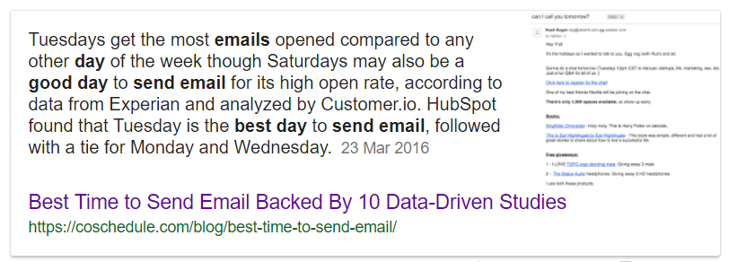 best day to send emails