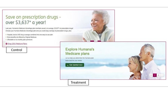 the humana landing page example