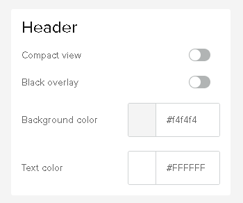 sellfy header settings
