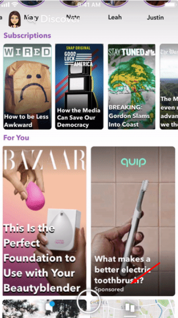 Snapachat's story ads for business