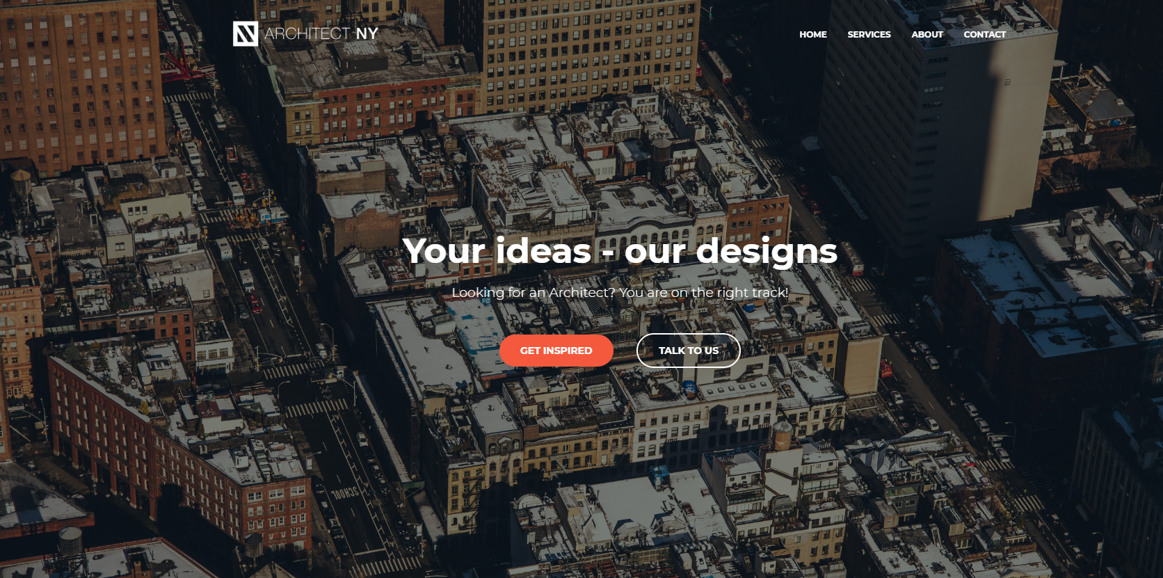 architect ny simple landing page example