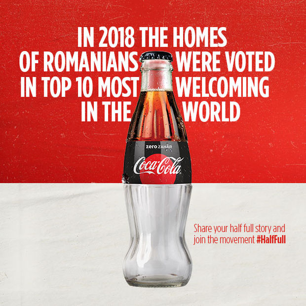 Coca Cola's half full bottle ad is one of the best marketing campaigns so far