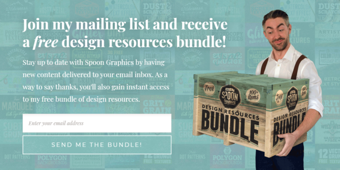 spoon graphics newsletter signup form