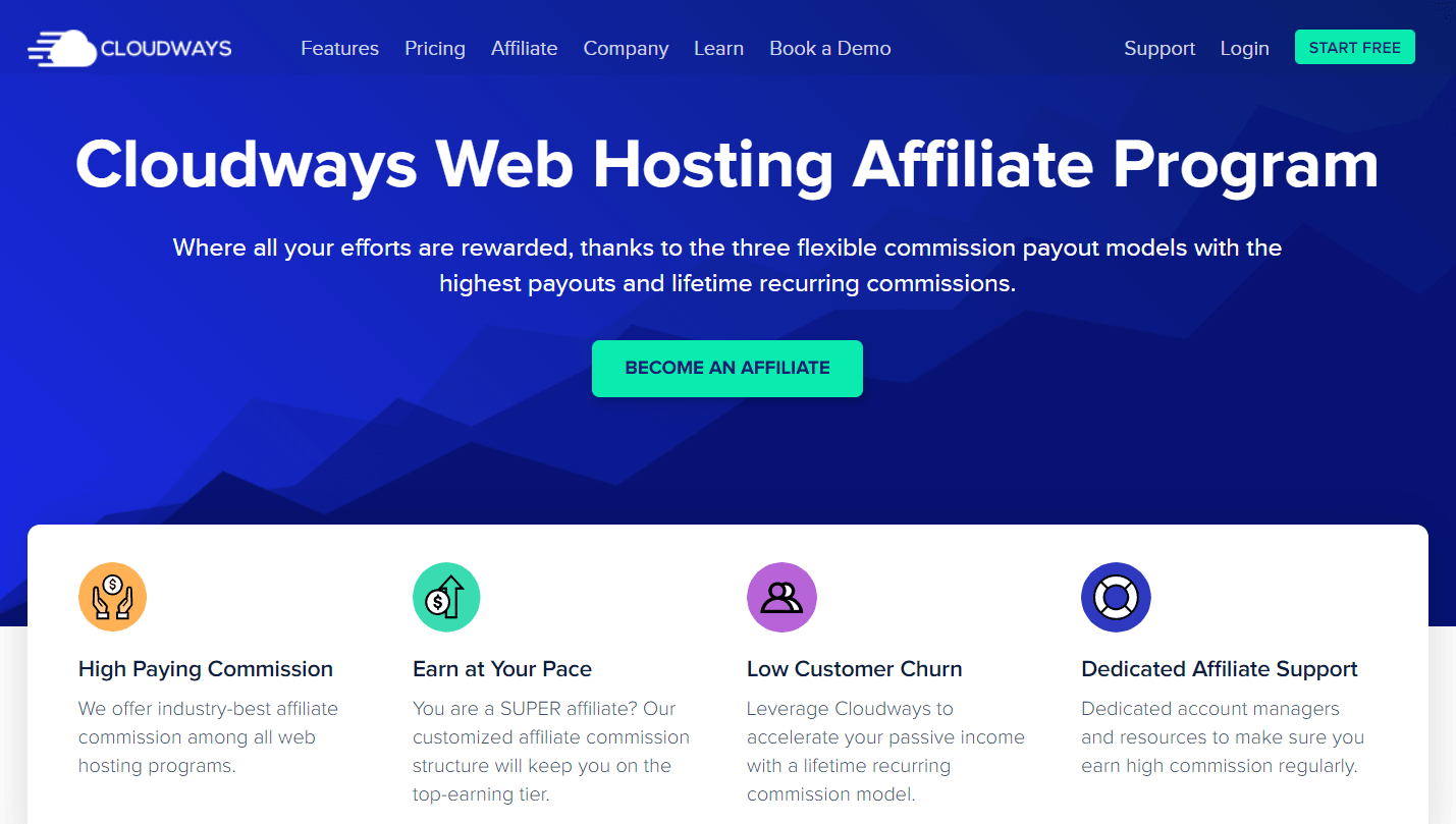 Cloudways hosting affiliate program