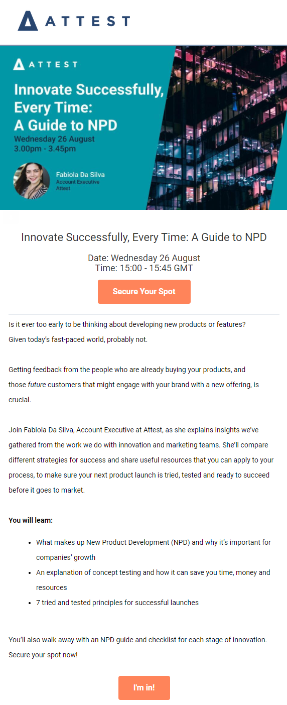 webinar email example