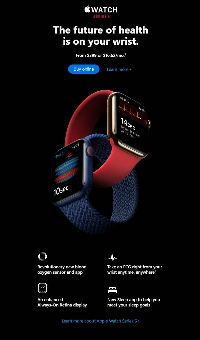 product launch email marketing campaign by Apple