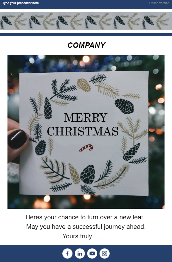 Traditional holiday email templates by TOPOL