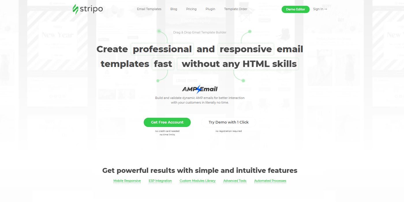 stripo email template creator