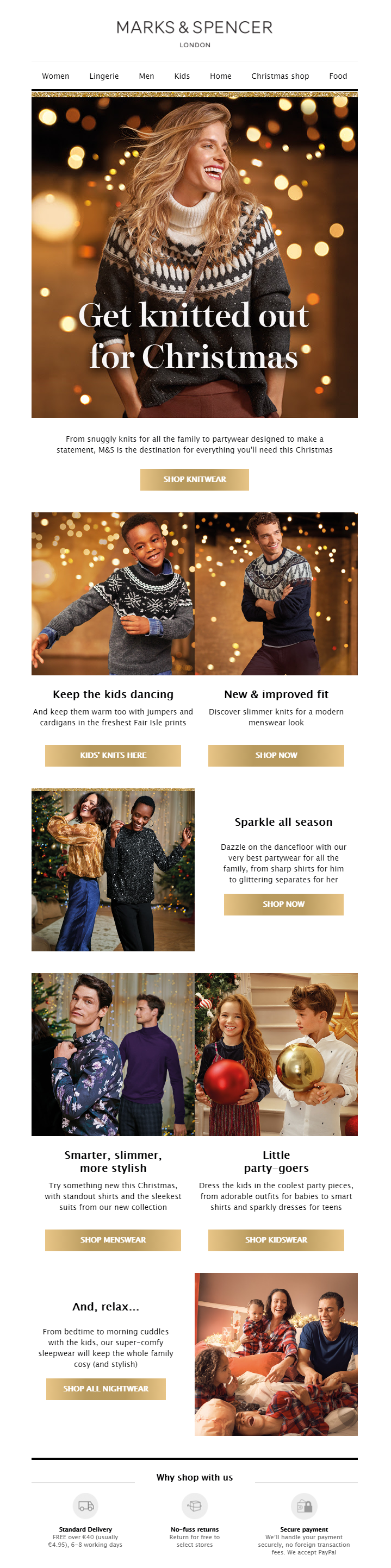 mark and spencers pre Christmas campaign example