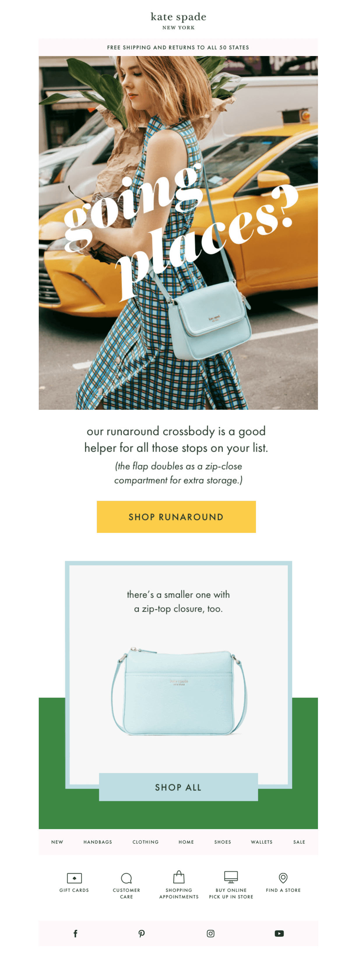 kate spade email campaign with GIF