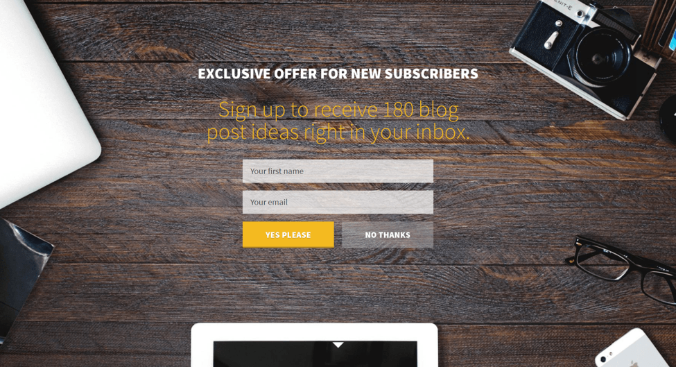 problogger blogging landing pages