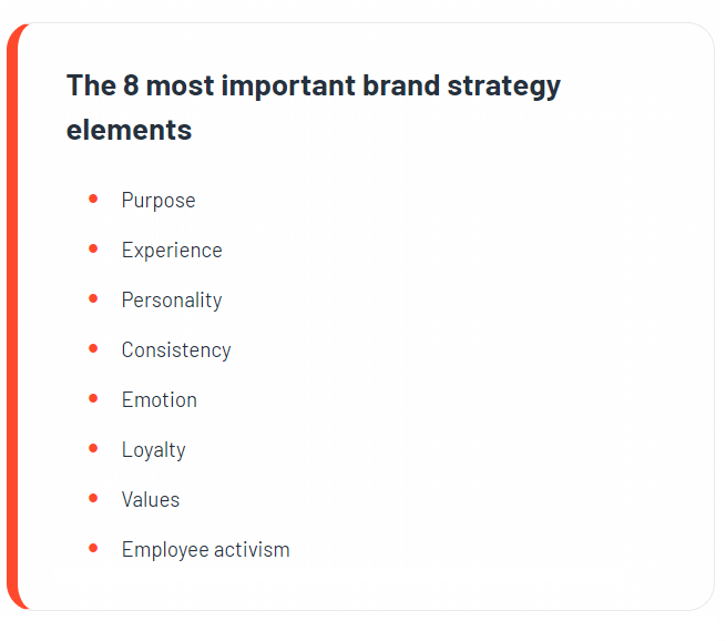 how to build a brand strategy elements