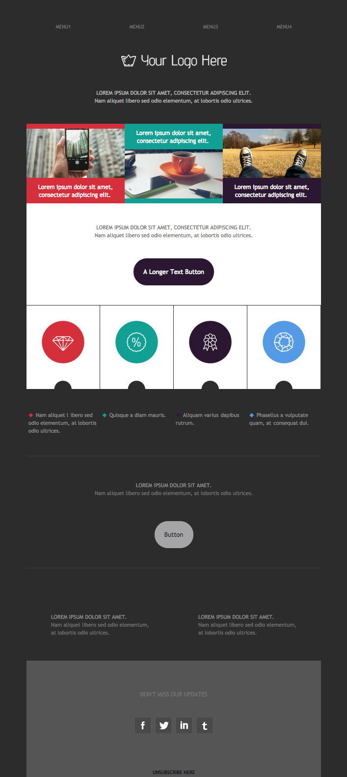 new feature promo email design