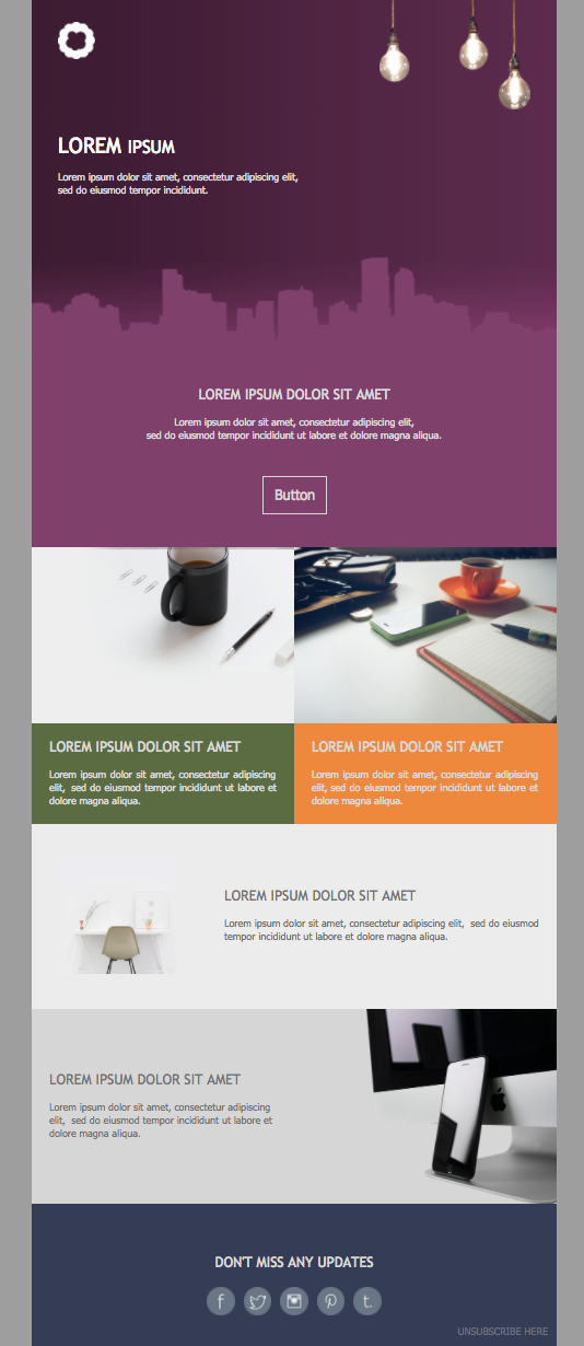 weekly updates email newsletter template
