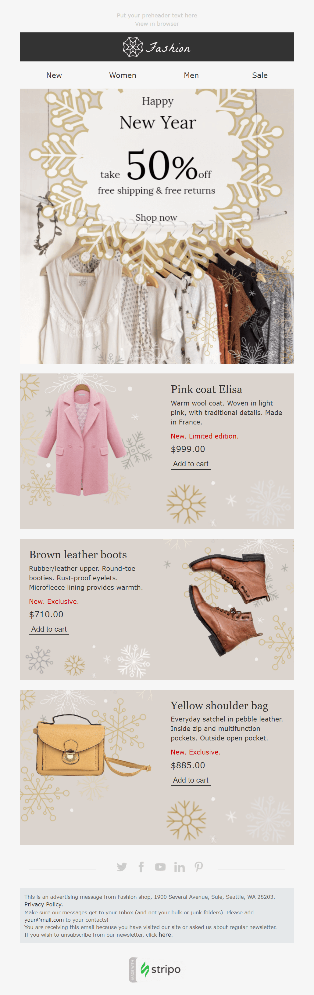 new year responsive email design