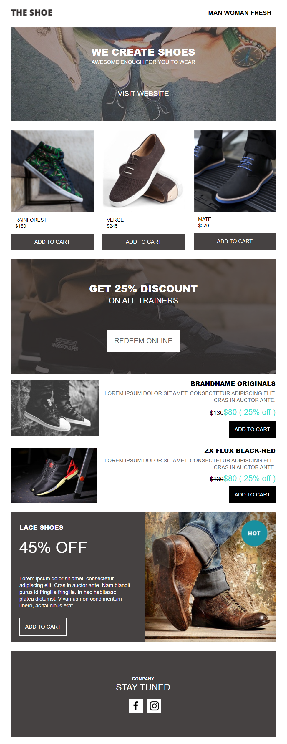 email newsletter template for ecommerce store owners